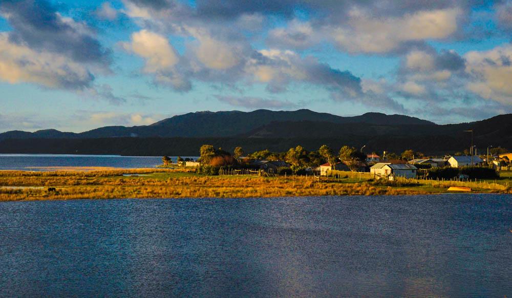 Lake Cucao on Chiloe Island