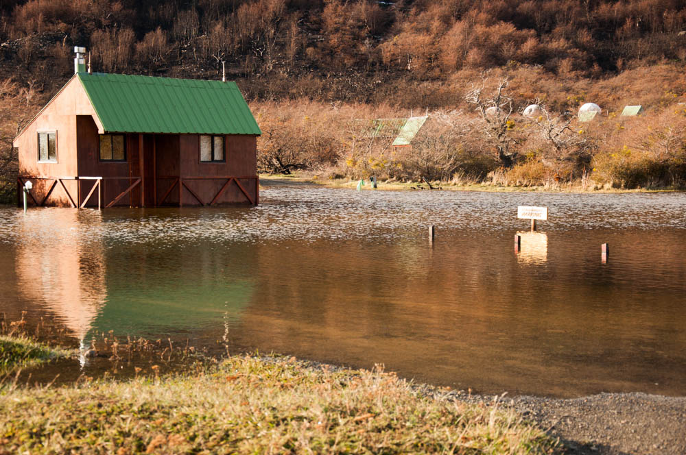 A submerged house in Torres del Paine