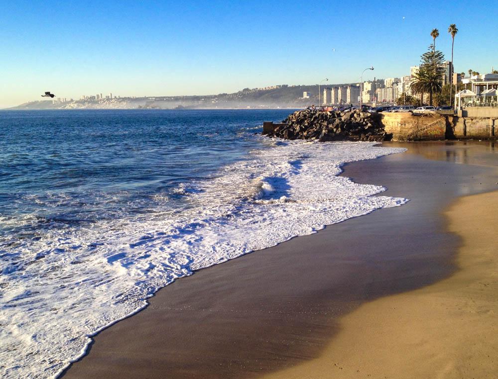 The beach at Vina del Mar