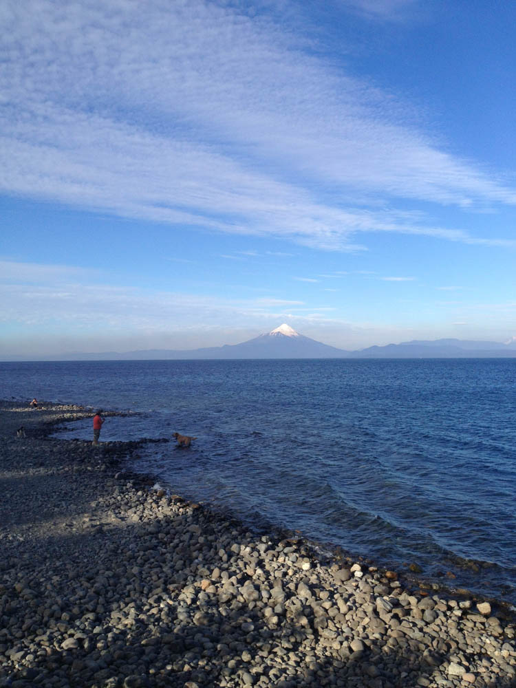 Osorno Volcano with beautiful clouds