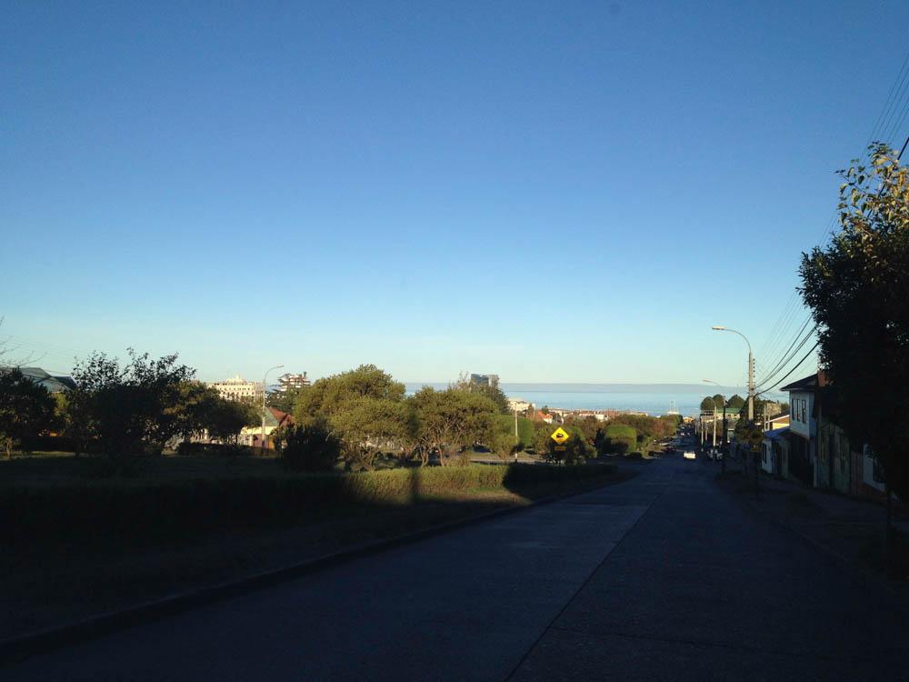Road to Tierra del Fuego from Punta Arenas