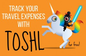 Tracking travel expenses with Toshl