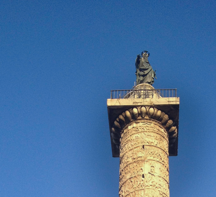 Marcus Aurelius in Piazza Colonna