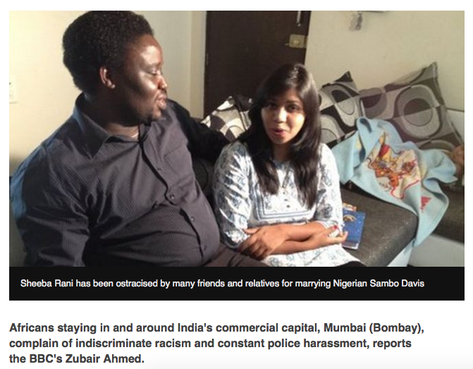 Black people often face discrimination in India