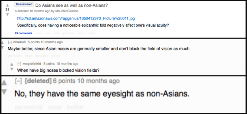 Asians can see just fine... in fact, they can even see how ignorant some people can be!