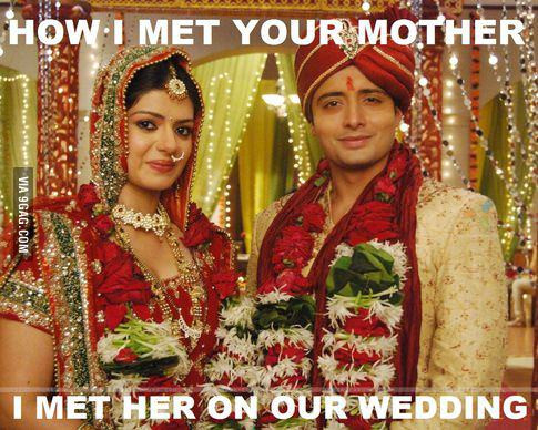 Of course not everyone in India gets an arranged marriage, but this is still funny!