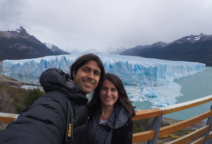 In Argentina, in front of Perito Moreno Glacier