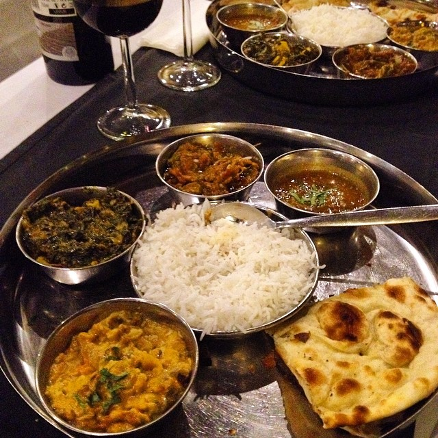 Thali at Zaafran Restaurant in Lisbon