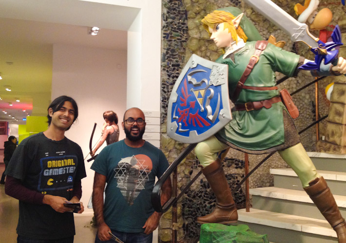 Ashray, Dushi and Link (not Zelda!) at the Computerspielemuseum