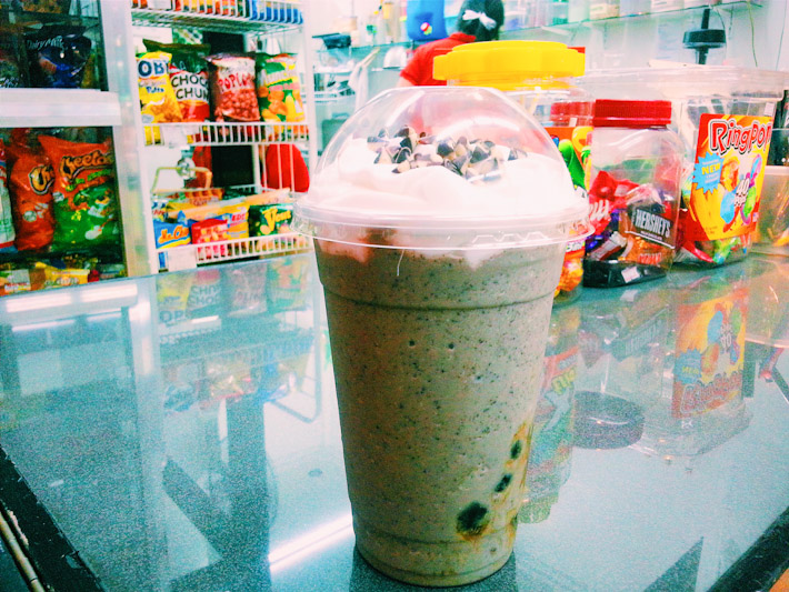 Fruit smoothies are a common street snack in the Philippines