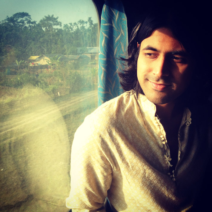 Traveling by train in Assam, India