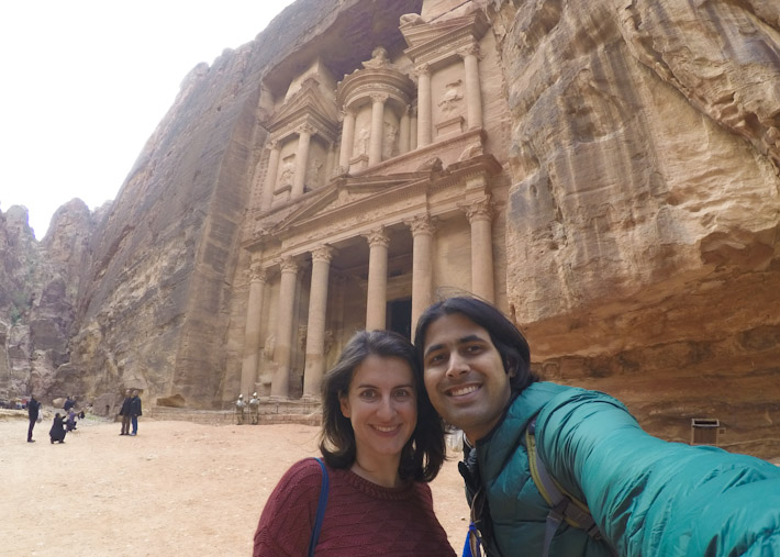 Enjoying the Ancient City of Petra, while feeling absolutely safe!