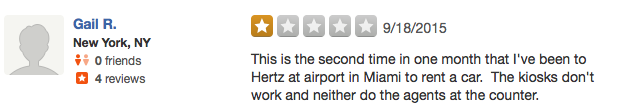 Review of Hertz Fort Lauderdale Airport on Yelp