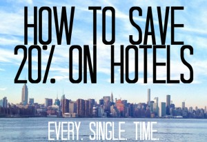 How to save 20% on Hotels
