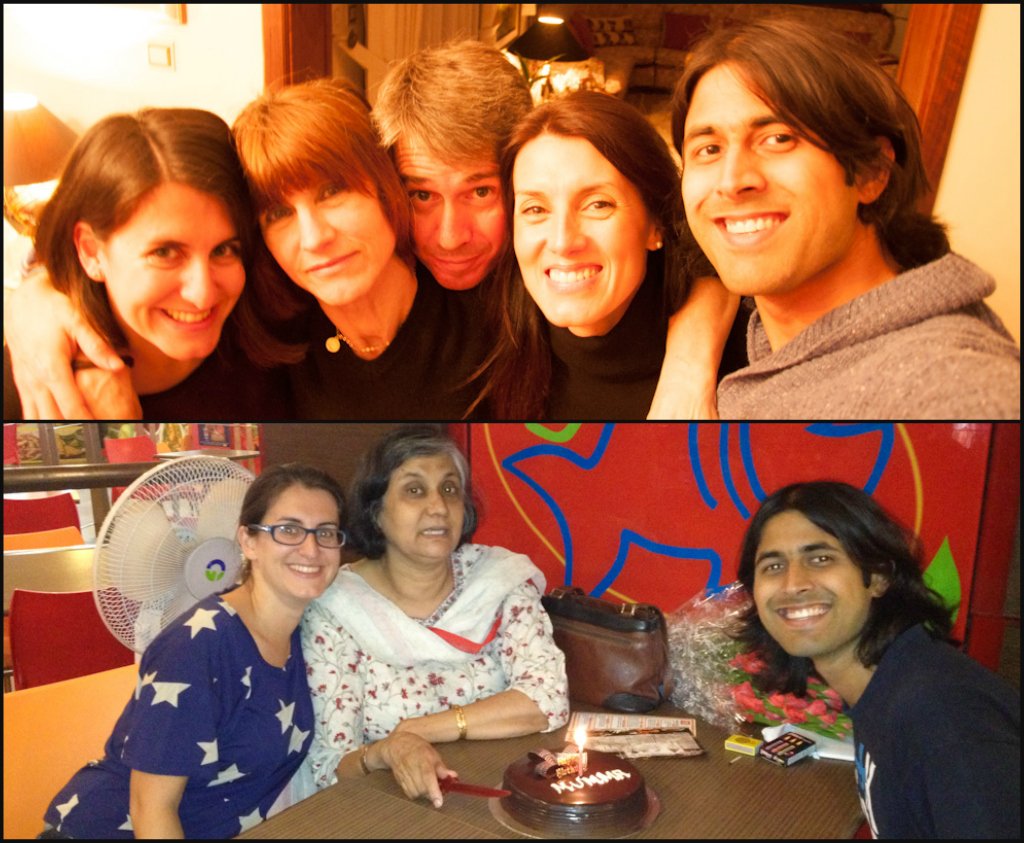 With Family. Above in Portugal and below in India.