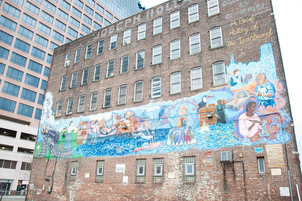 Mural of the history of the Ironbound District