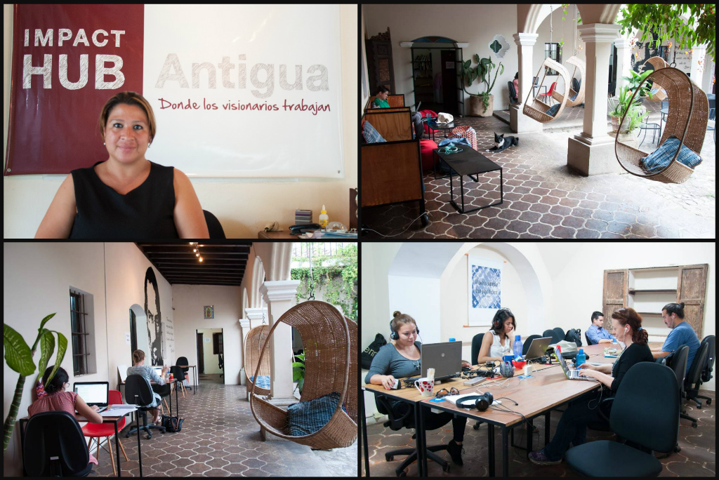 Impact Hub co-working space in Antigua Guatemala