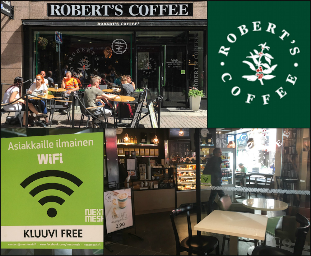 Robert's Coffee at Kluuvi Shopping Center in Helsinki