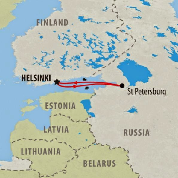 Helsinki to St. Petersburg by ferry, without a visa