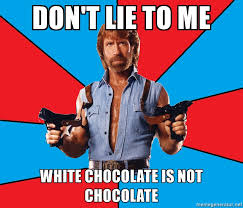 That's right people of Helsinki... white chocolate is NOT chocolate!
