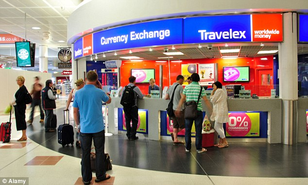 Currency exchange outlets inside airports rarely offer the best bang for your buck!