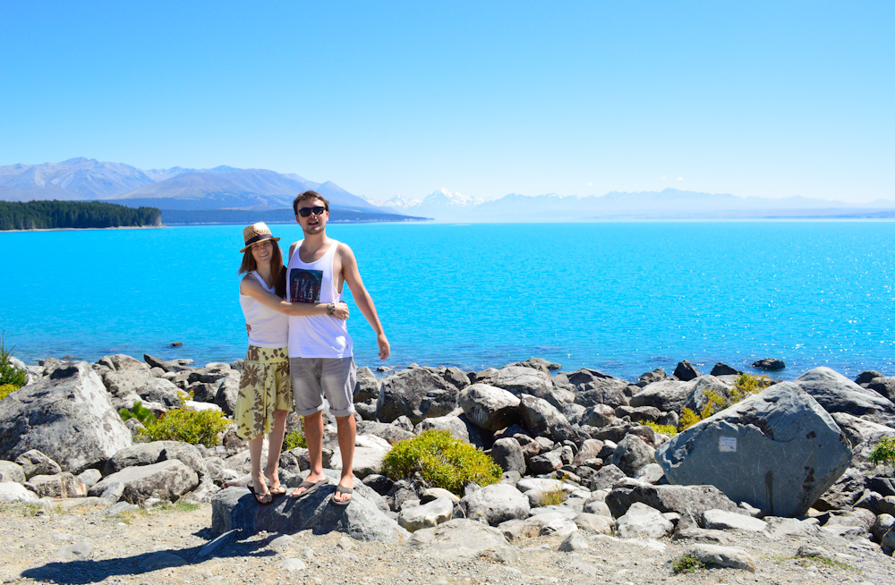 Dawn & Isaac from Going NZ at South Island Lake Pukaki