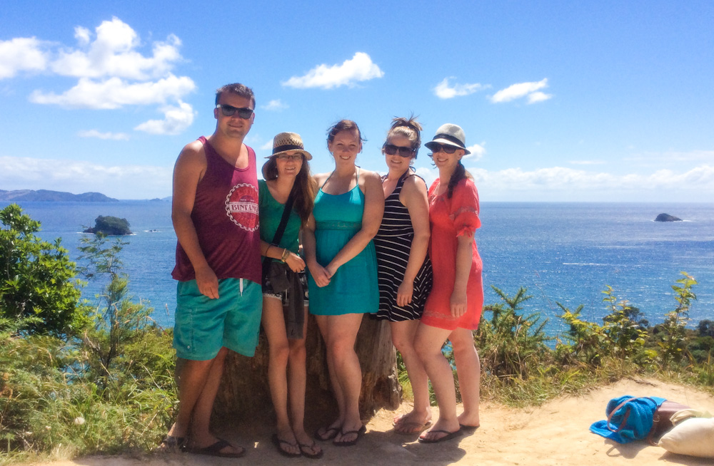 Us last summer with some friends we met whilst traveling, The Coromandel