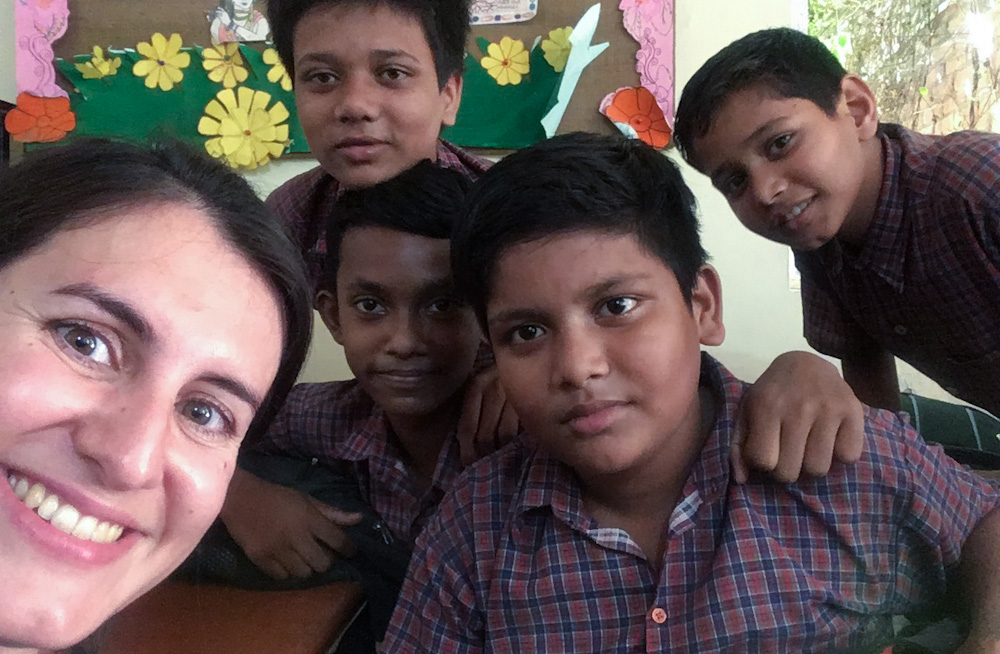 The kids at Diksha requested a selfie!