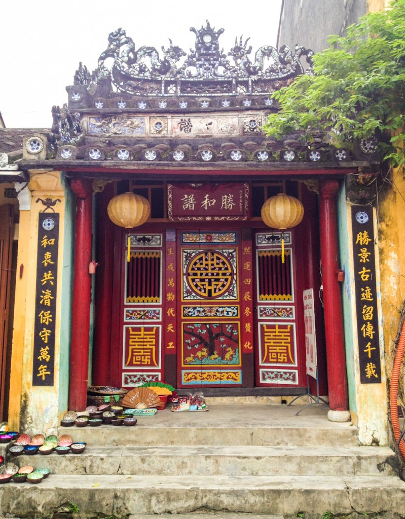 Chinese temple facade in Hoi An