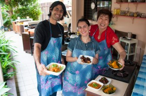 Cooking in Nyona Food in Penang with Pearly Kee