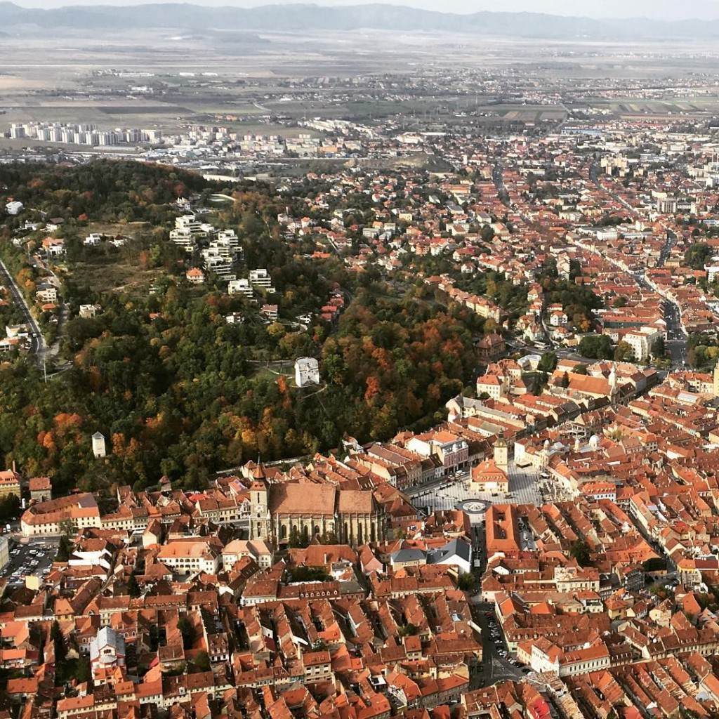 Brasov as seen from Tampa Hill