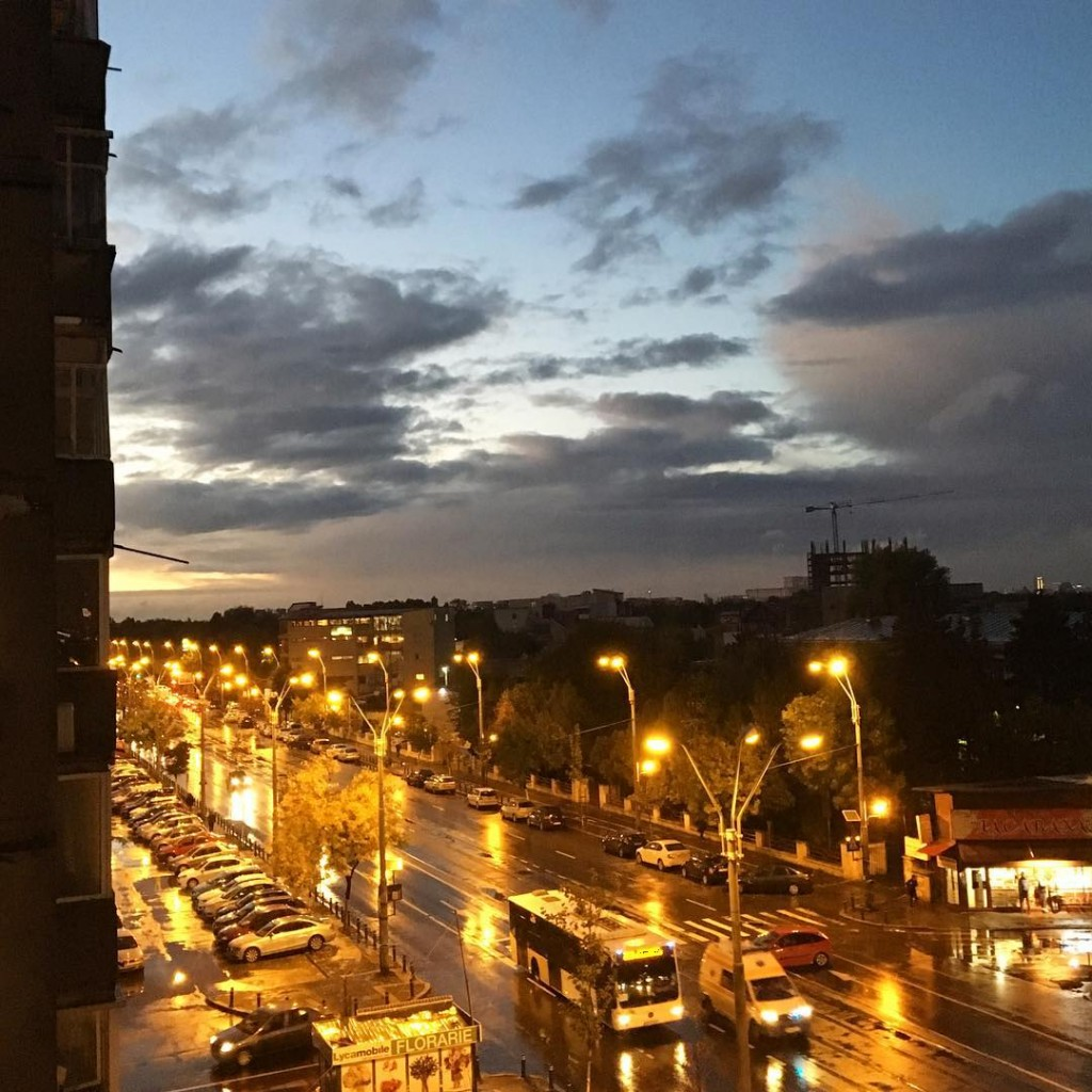 Rainy night in Bucarest