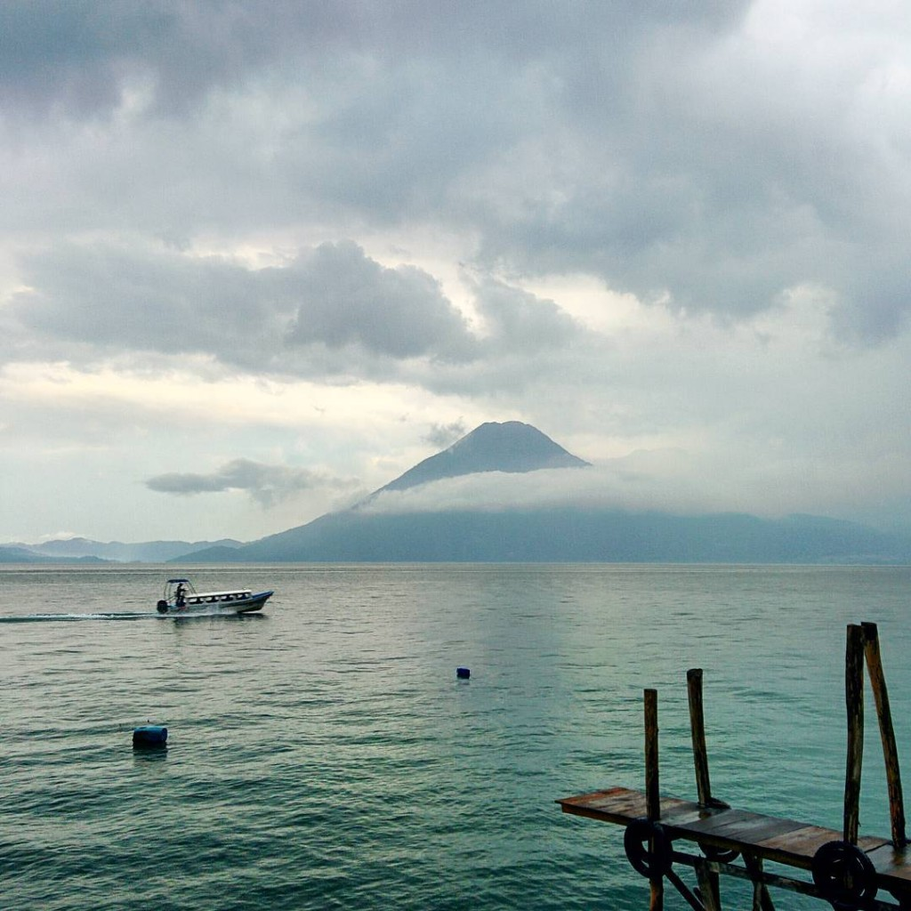 Lake Atitlan on a Stormy Day