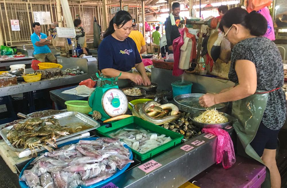 Inside Pulau Tikus Market, Penang