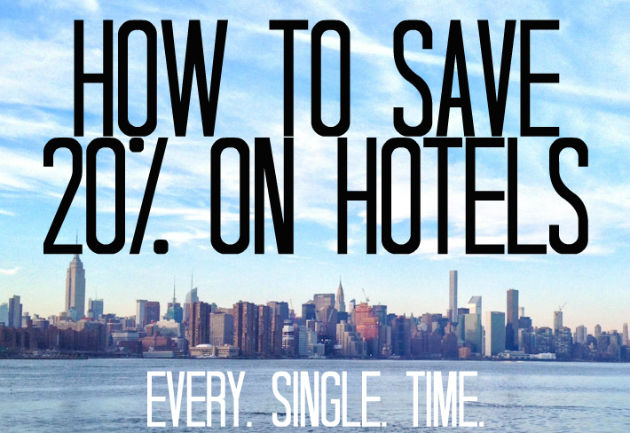 How to Save 20% on Hotels Always