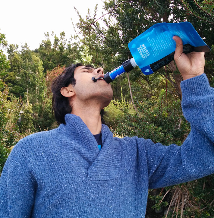 Drinking water in the great outdoors, with the Sawyer filter
