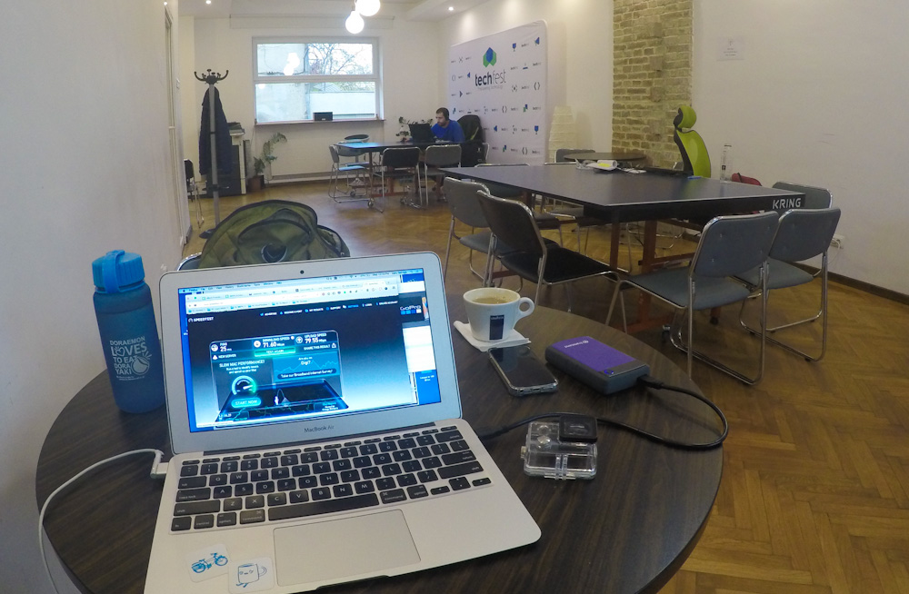 One of the co-working rooms at Cluj Hub