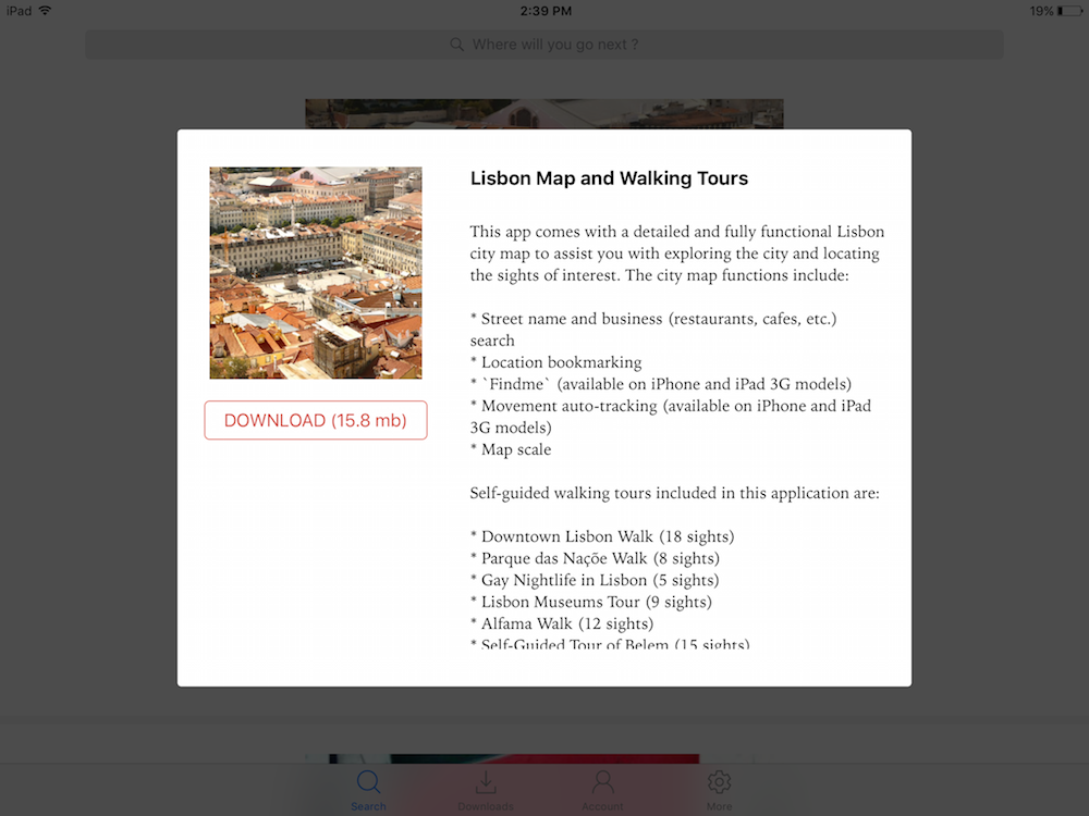 GPSmyCity Lisbon maps and walking tours