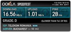 Speed test at Koffer in Cluj