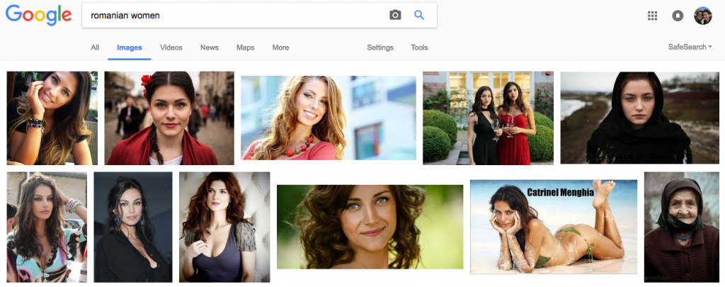 "This is what you get on Google Images when you search for ""Romanian Women"""