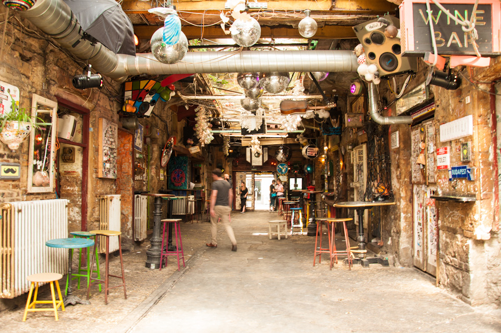 At Szimpla Kert, one of Budapest's famous ruin pubs