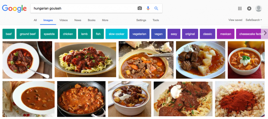 This is what you get when you google Hungarian Goulash...