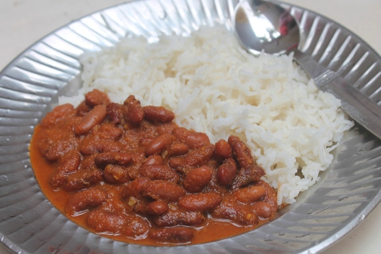 Rajma Chawal: rice and beans Indian style