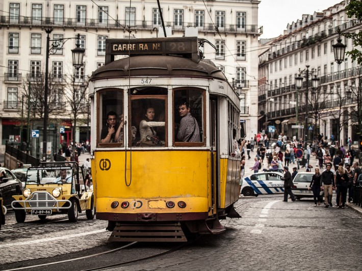 How to Get Inside Tram 28 in Lisbon