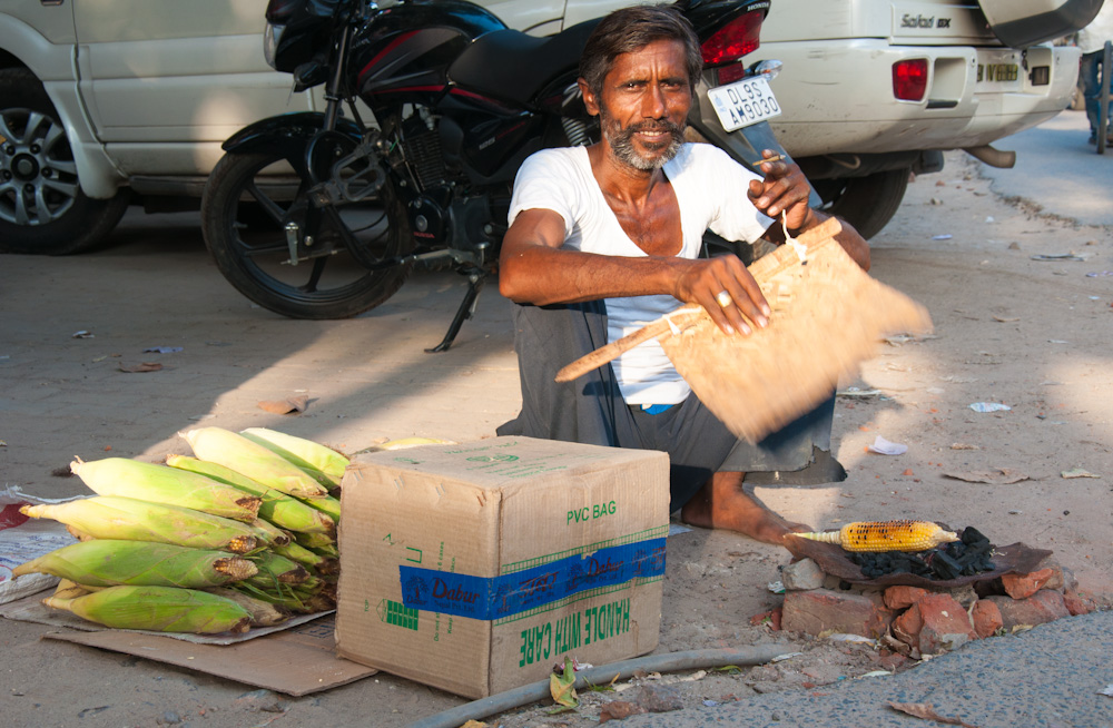 Bhutta in the streets of India