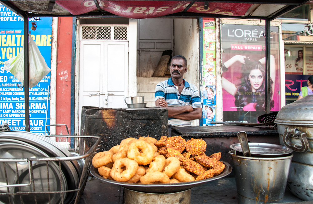 Street food stall in India