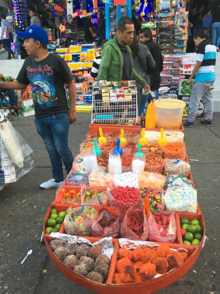 Assorted snacks in Mexico