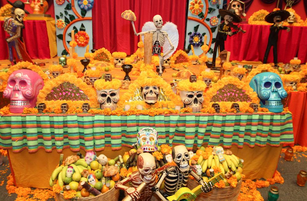 Dia de los Muertos altar in Mexico