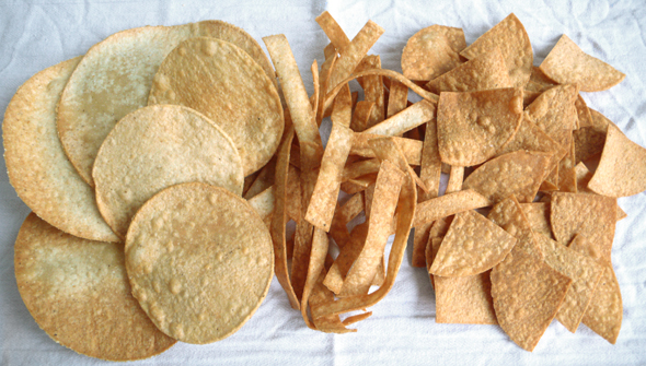 Mexican Tostadas and Totopos (photo by coolchile.co.uk)
