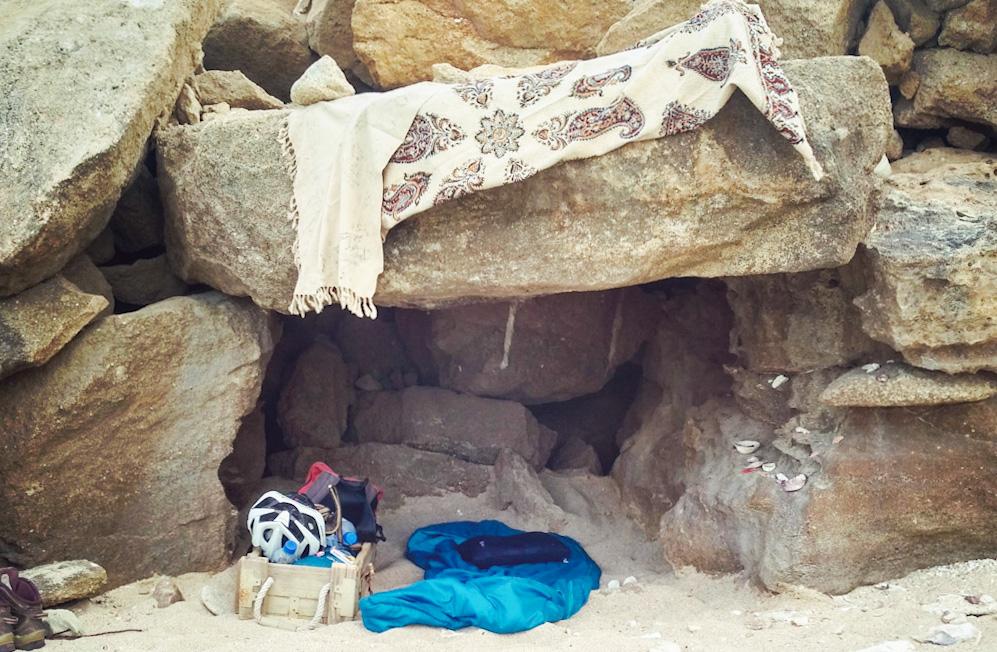 Wild camping in Iran
